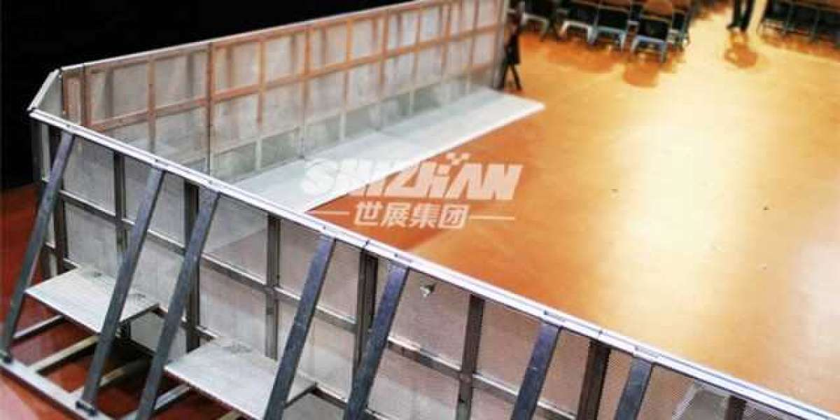 Aluminum stage barrier